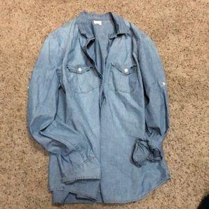 J Crew Button Down Chambray Shirt Medium
